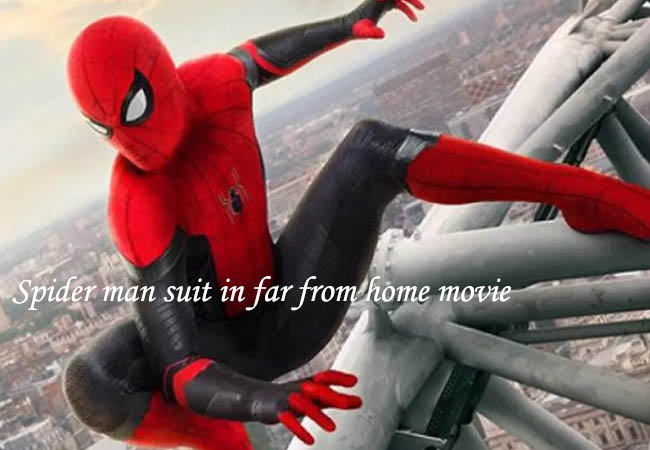 spider man suit in far from home movie