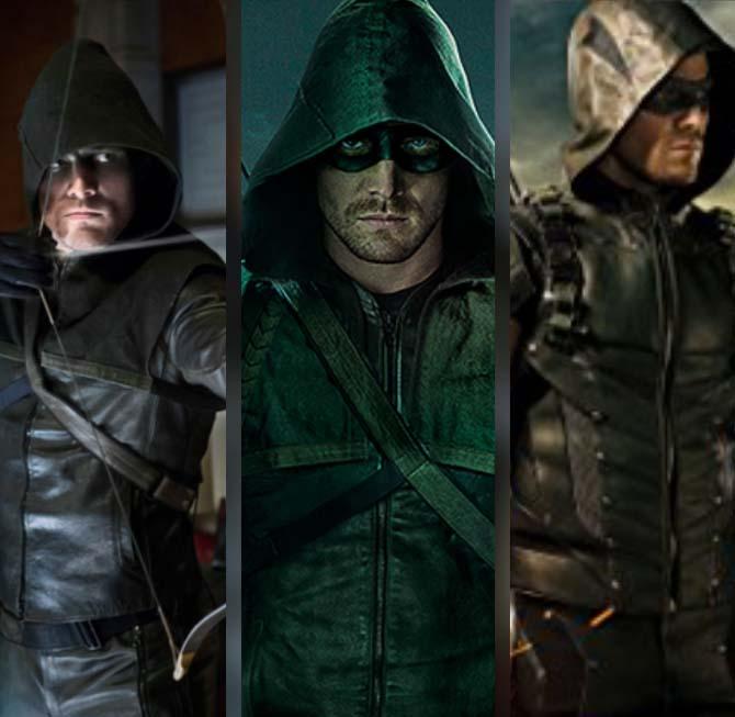 green arrow suits in TV seasons